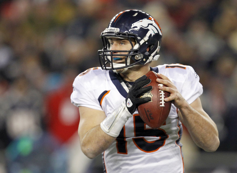 Tim Tebow was erratic at QB and could be traded with Peyton Manning joining the Broncos.
