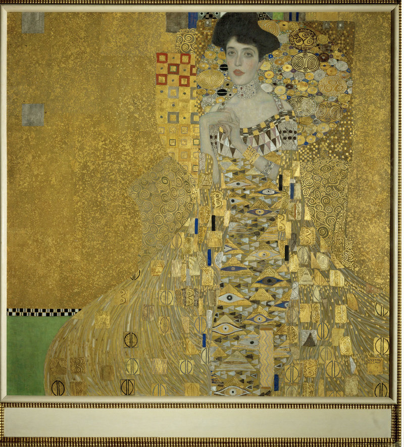 "The painting ""Adele Bloch-Bauer I"" is one of five Gustav Klimt paintings that were stolen from Maria Altmann's family by the Nazis in 1938. Altmann's efforts to recover the paintings are featured in the film ""Stealing Klimt,"" to be shown today at the Maine Jewish Film Festival. The painting sold for $135 million about five years ago."