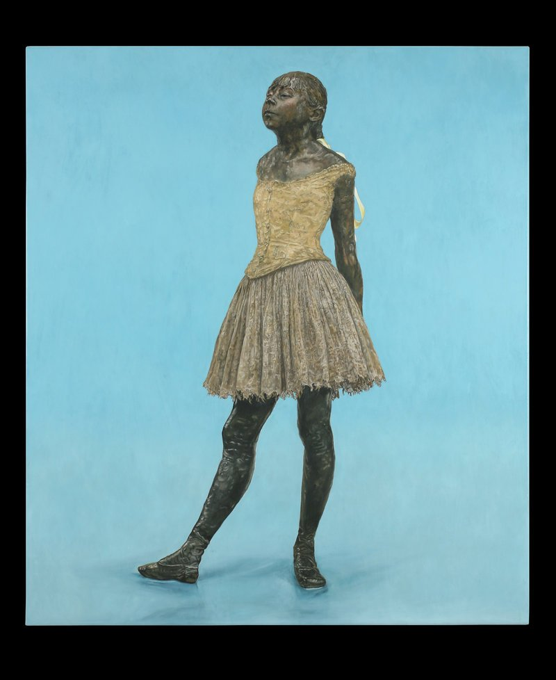 'Little Dancer on Blue' by Jane Sutherland.