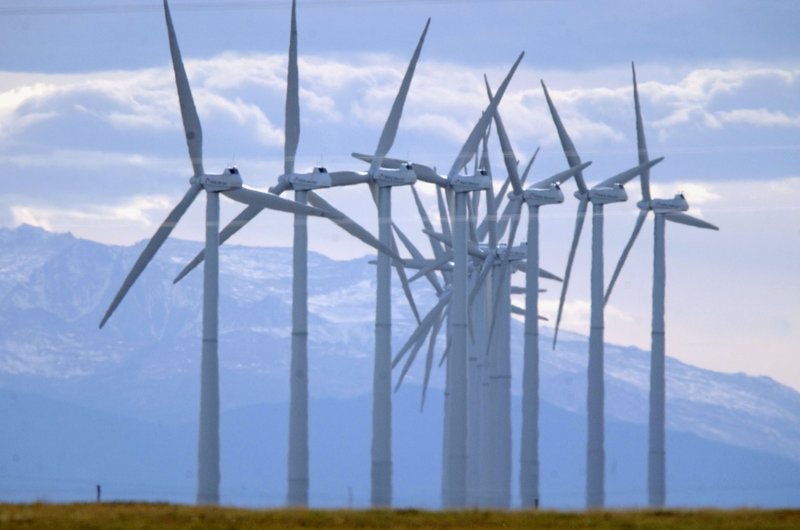 Owners of wind farms like this one near Cheyenne, Wyo., have benefited from a tax credit that expires Dec. 31. Industry executives say the federal government gets a good return on the $3.5 billion a year the subsidy costs.