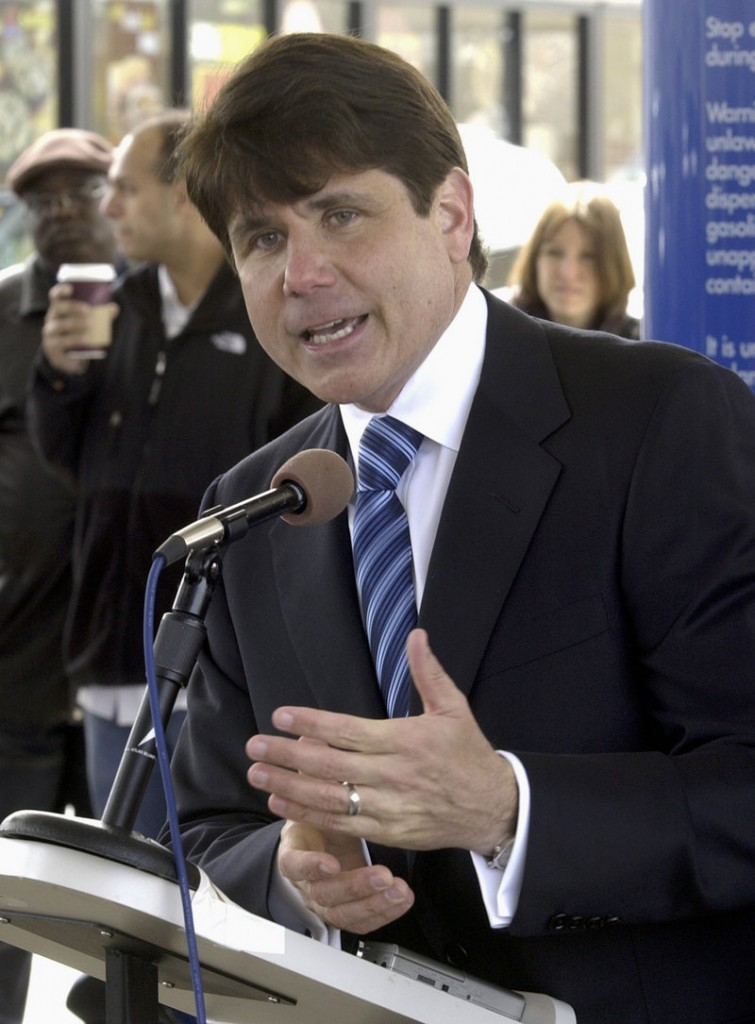 Former Illinois Gov. Rod Blagojevich has been dying his trademark hair for years, said his longtime barber, but hair dye isn't allowed in prison.