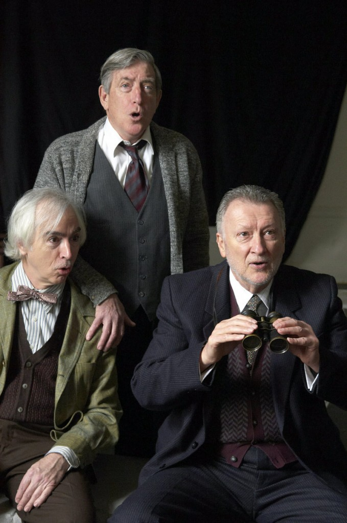"Portland Stage Company this week opens ""Heroes,"" a Tom Stoppard adaptation of the comedy by Gerald Sibleyras about three aging World War II veterans in a French retirement home. ""Heroes"" opens with previews Tuesday through Thursday and continues through April 22. The play starts, from left, Philip Goodwin, Munson Hicks and Edmond Genest."