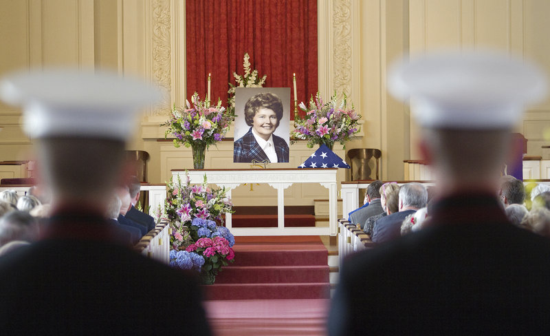 "The life of Hattie Bickmore, a Maine GOP leader, is celebrated on Saturday in a service at Woodfords Congregational Church in Portland. In a letter to mourners she said, ""It has been hard to be a sex symbol all these years, but it has really been my pleasure."""