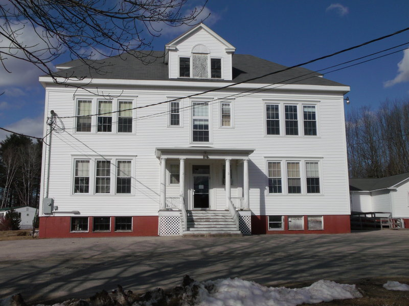 The former Bar Mills Elementary School in Buxton's Bar Mills village dates from 1912 and was used most recently for the offices of School Administrative District 6. It's been empty since the school administration moved last fall, and preservationists are working to save it.