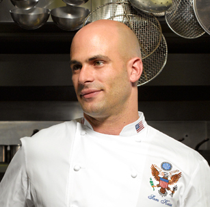 """Assistant White House chef Sam Kass (aka """"the hot one"""") is the Obamas' personal chef."""