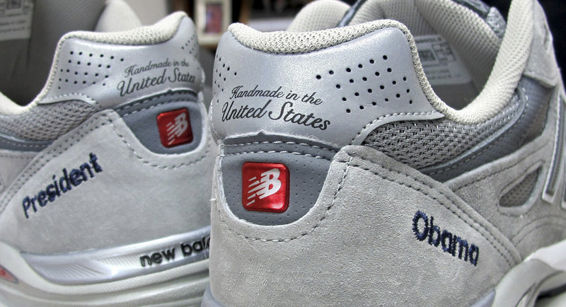 These New Balance running shoes were custom-made for the president.