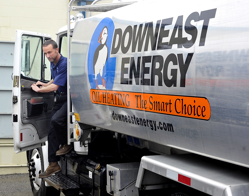 Steve Trudelle exits a truck Monday at the South Portland office of Downeast Energy.