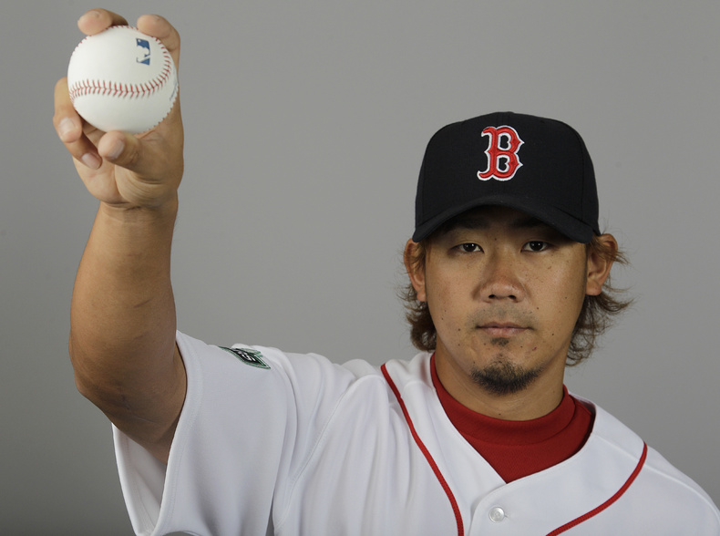 Daisuke Matsuzaka of the Boston Red Sox will pitch at Hadlock on Saturday.