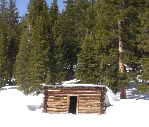 This April 6, 2012, photo provided by the U. S. Forest Service shows the Conundrum Creek Cabin, in the White River National Forest, near Aspen, Colo., where as many as six cows remain that froze to death. U.S. Forest Service spokesman Steve Segin said today they need to decide quickly how to get rid of the carcasses. The options: Use explosives to break up the cows, burn down the cabin, or using a helicopters or trucks to haul out the carcasses.