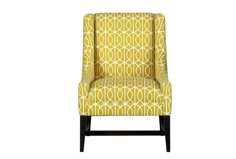 "The Chloe chair in ""Bella Citrine,"" from Crate & Barrel."