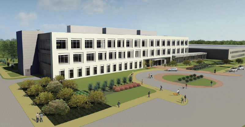 A rendering shows the $35 million headquarters building that Idexx is building on Eisenhower Drive in Westbrook. The general contractor is Vermont-based PC Construction, which has an office in Portland. Completion is scheduled for August 2013.