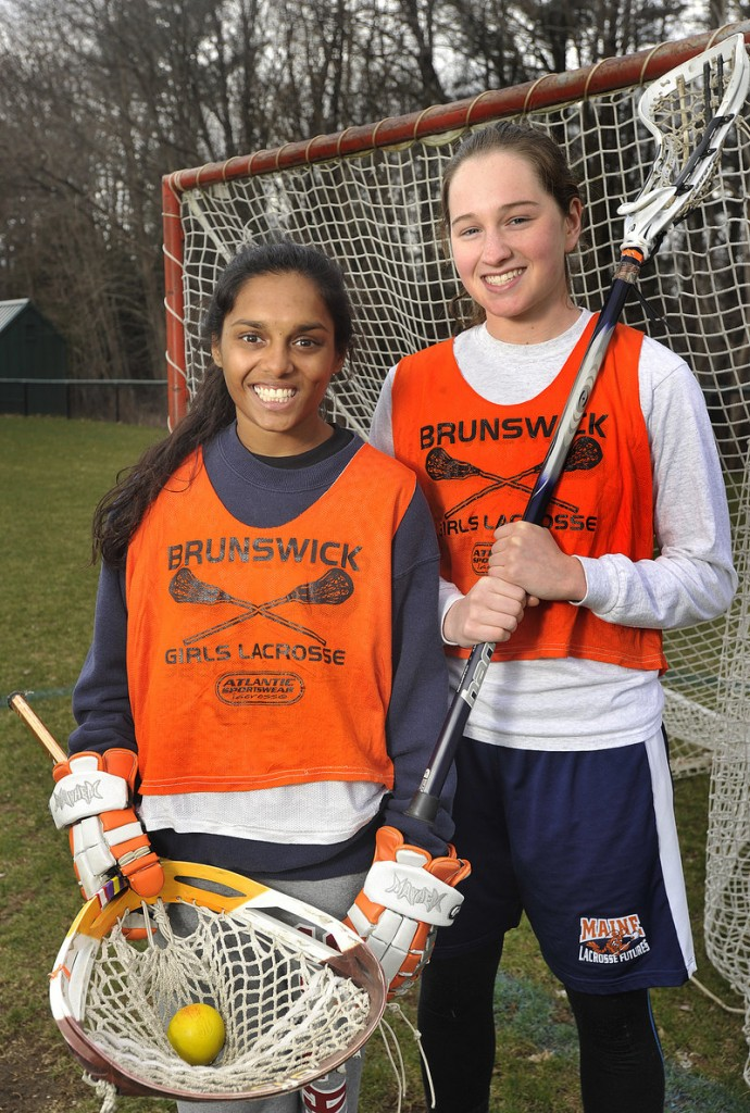 Molly Herman, left, is a third-year starter in goal, and Dakota Foster is the reigning KVAC Class A player of the year for Brunswick, a perennial Eastern Class A powerhouse.