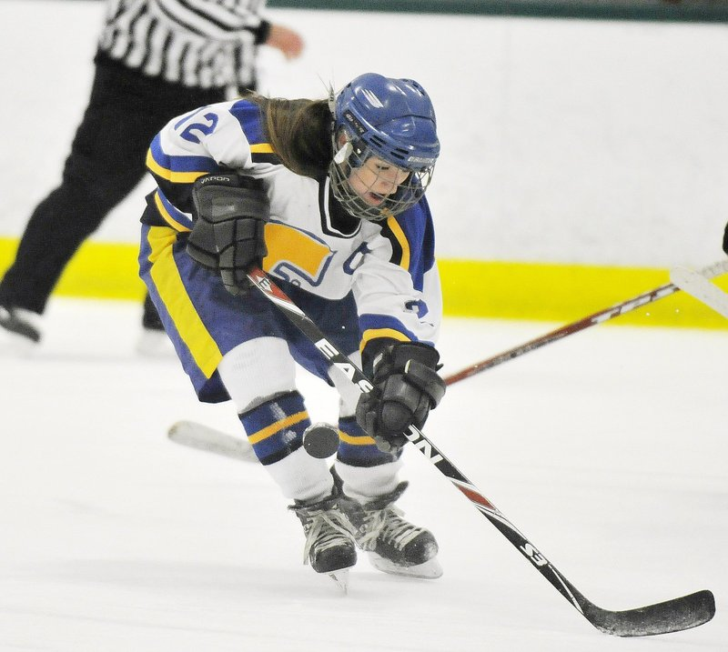 Megan Fortier is a three-sport athlete at Falmouth High and plans to play two sports – hockey and field hockey – when she attends Colby College starting in the fall.