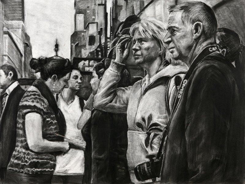 """Yena Kang's """"People"""" won silver in the national Scholastic Art and Writing Awards competition."""