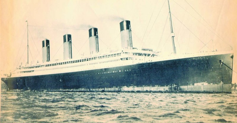 The Titanic struck an iceberg late on the night of April 14, 1912.