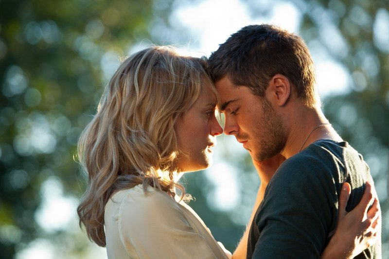"Taylor Schilling and Zac Efron turn up the heat in ""The Lucky One."""