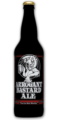 Arrogant Bastard is good, but not quite as good as it claims.