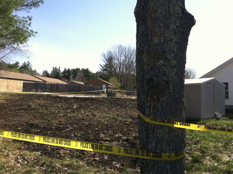 Wednesday's fire at 363 Sebago Lake Road in Gorham burned grass behind the vacant house there, but authorities declined to say where the fire was set.