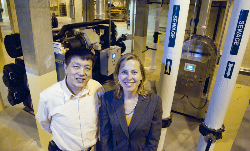 Jimmy Wang, founder and chief engineer, and CEO Elinor Haider are the management team behind Philadelphia startup company NovaThermal Energy, which has licensed a Chinese technology called sewage geothermal.