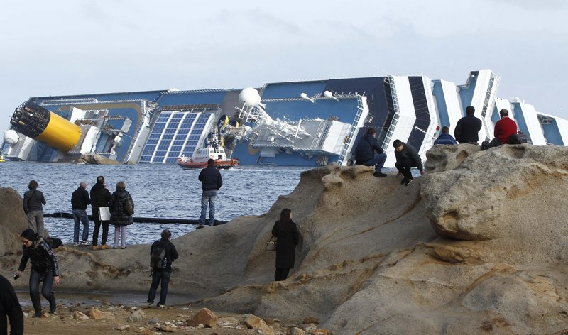 The Costa Concordia has been grounded off the Tuscan island of Giglio, Italy, since January. U.S.-owned Titan Salvage won the bid to remove the ship.