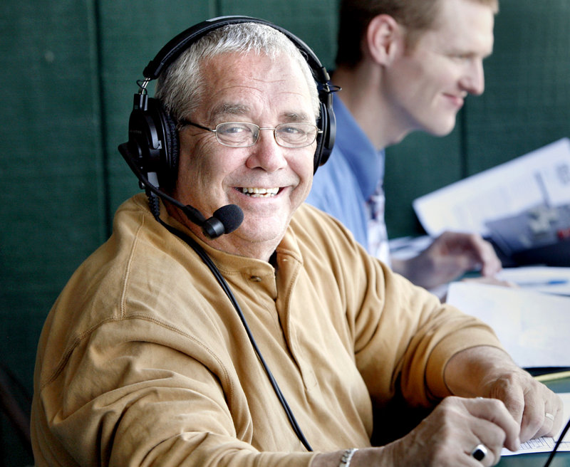 Bruce Glasier knows his way around a microphone. He's still doing USM sports online but, at 67, will be retiring from WCSH television Friday after a 35-year career.