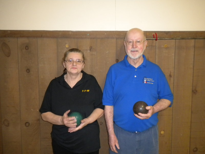 Carole St. Amand and Bob Wells won their respective divisions April 4 at the Maine State Candlepin Bowlers Association Senior State Championship. St. Amand had a handicap score of 738 for five games, and Wells had a score of 743.