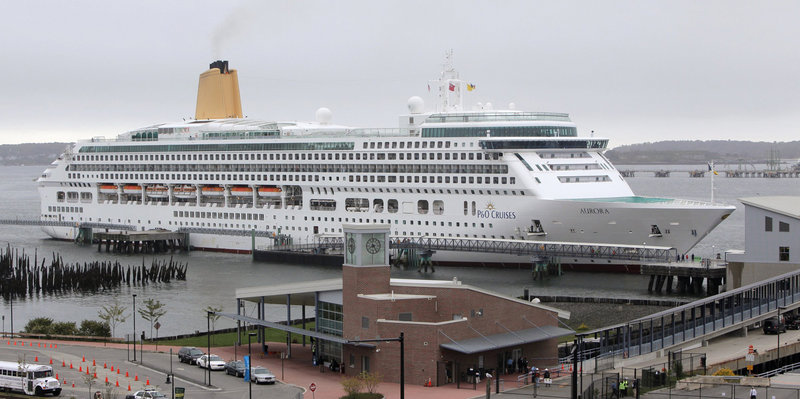 Ships like the Sea Princess, shown above at the Maine State Pier, have helped generate millions of dollars for the Greater Portland economy over the years.
