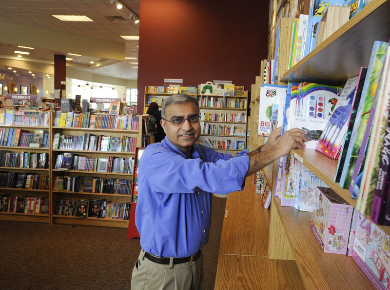 "P.K. Sindwani, at his Towne Book Center & Cafe at Providence Town Center in Collegeville, Pa., has reached out to child readers as well as e-book readers. ""Children's is keeping me in business,"" he says."