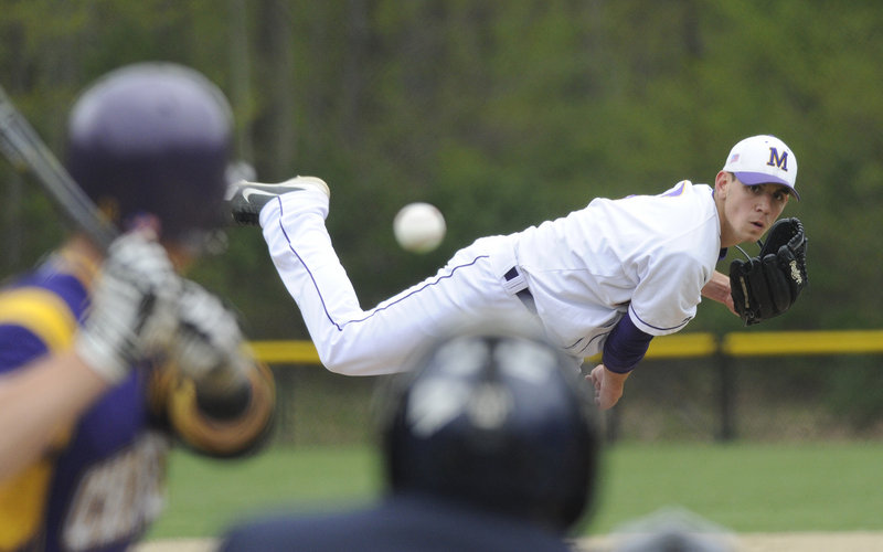 Luke Fernandes survived a shaky first inning Thursday for Marshwood, when he allowed three hits with a walk and a hit better, then settled down and pitched the Hawks to a 6-3 victory against Cheverus. Fernandes left in the seventh inning after throwing 101 pitches.