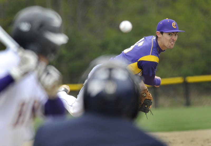 Cheverus, the reigning Class A baseball state champion, suffered its first loss of the season Thursday, as ace pitcher Louie DiStasio gave up six runs against Marshwood.