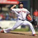 In his second rehab start as he continues his recovery from Tommy John surgery, Daisuke Matsuzaka pitched 4 2⁄3 innings Saturday for the Portland Sea Dogs against the Reading Phillies. He struck out seven and allowed one run on three hits and two walks.