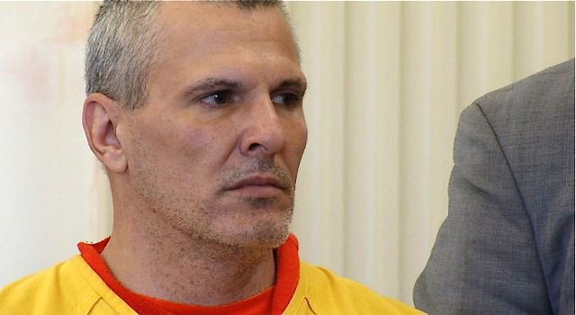 Michael Swenson, 44, of Scarborough appears in York County Superior Court in Alfred on Wednesday in connection with the fatal stabbing of Roger White outside an Old Orchard Beach bar last weekend.