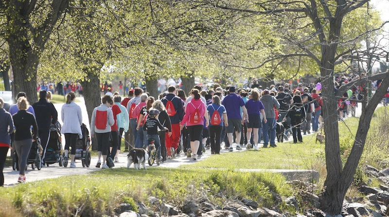 Hundreds gather at Payson Park in Portland on Sunday, May 6, 2012 for the March of Dimes March for Babies event.