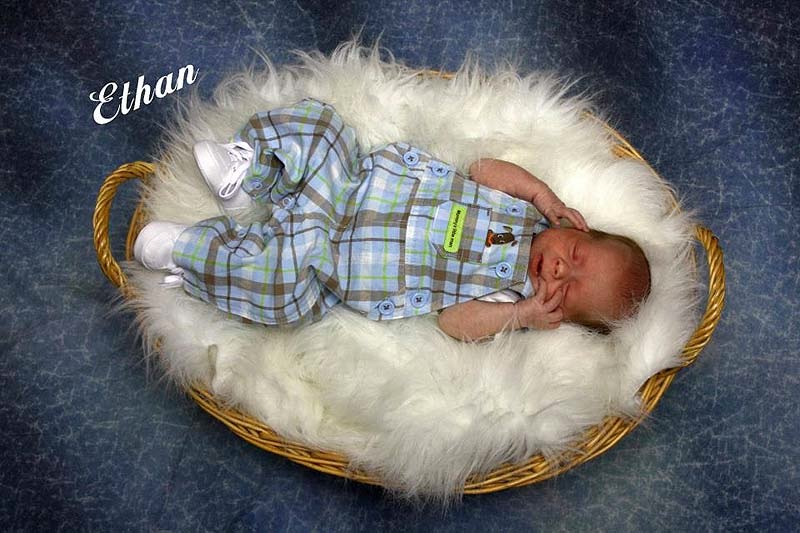 Ethan Henderson, the 2 1/2-month-old baby who died Tuesday after being assaulted by his father.