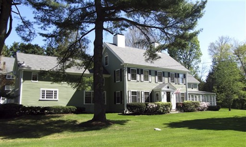 This April 2012 photo released by Coldwell Banker Residential Brokerage shows a house in Sudbury, Mass., where baseball great Babe Ruth lived from 1922 to 1926, after he had been sent to the New York Yankees. The estate, known as Home Plate Farm, was put on the market Friday, May 4 2012, for $1.65 million. (AP Photo/Coldwell Banker Residential Brokerage)
