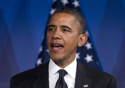 In this May 8, 2012 file photo, President Barack Obama speaks in Washington. President Barack Obama comes out in favor of same-sex marriage Wednesday, a historical announcement that's also rife with possible political consequences. (AP Photo/Evan Vucci, File)