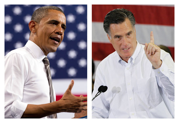 President Barack Obama and Republican presidential candidate Mitt Romney.