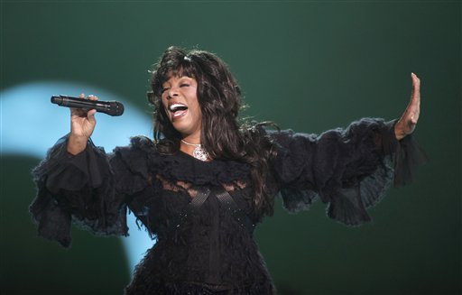 Donna Summer performs at the conclusion of the Nobel Peace concert in Oslo, Norway, in this Dec. 11, 2009, photo.