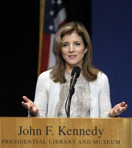 In this May 23, 2011 file photo, Caroline Kennedy addresses the John F. Kennedy Profiles in Courage Award ceremony at the John F. Kennedy Library & Museum in Boston. She is scheduled to present this year's awards during the annual ceremony on Monday, May 7, 2012. (AP Photo/Stephan Savoia, File)