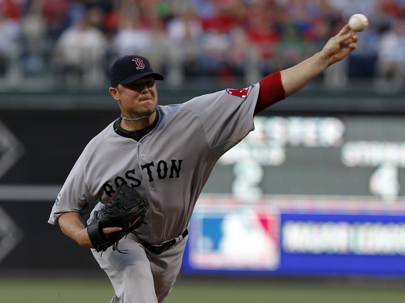 Red Sox starting pitcher Jon Lester throws during the first inning against the Philadelphia Phillies on Saturday in Philadelphia.