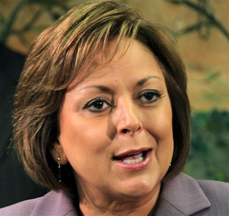 In this May 7, 2012 file photo, New Mexico Gov. Susana Martinez speaks in Albuquerque, N.M. Martinez, who is often mentioned as a potential vice presidential candidate but has repeatedly said she has no interest in the spot, is criticizing presumptive nominee Mitt Romney for his harsh stance against immigration. (AP Photo/Susan Montoya Bryan, File)