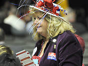 Barbara Harvey from Portland at the GOP State Convention at the Augusta Civic Center on Saturday, May 5, 2012.