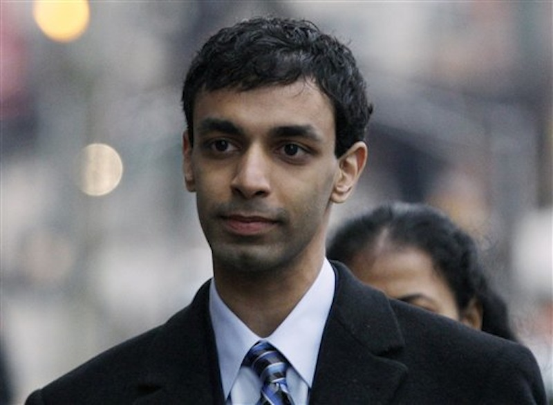 In a Feb. 24, 2012 file photo former Rutgers University student, Dharun Ravi, arrives at his trial in New Brunswick, N.J. Ravi was sentenced to 30 days in jail on Monday May 21, 2012. (AP Photo/Mel Evans/file)