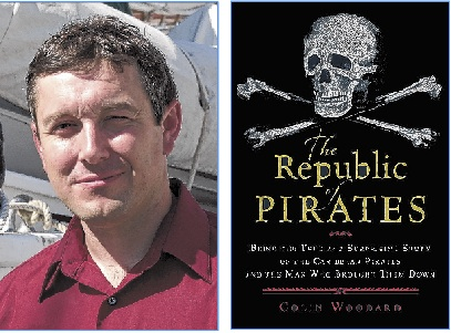 "NBC plans a TV series based on a book by Maine author Colin Woodard, left, ""The Republic of Pirates: Being the True and Surprising Story of the Caribbean Pirates and The Man Who Brought Them Down"" (Harcourt, 2007)."