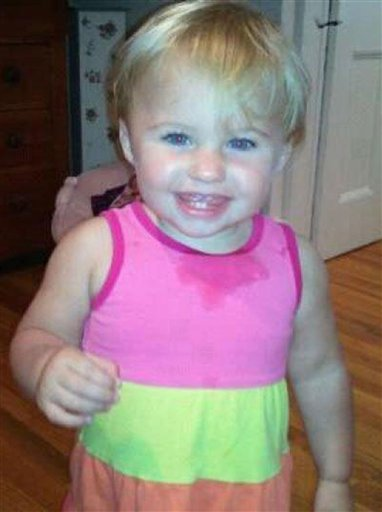 FILE - This undated file photo obtained from a Facebook page shows missing toddler Ayla Reynolds. Her mother, Trista Reynolds of Portland, Maine, said she's begging, pleading and praying for someone to come forward with information that will help investigators. Ayla, was 20 months old when she was reported missing on Dec. 17 from the Waterville home of her father, Justin DiPietro. (AP Photo/obtained from Facebook, File)