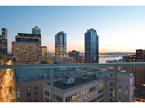 "The view from the Escala, a luxury condominium in Seattle and the setting for the steamy novel, ""50 Shades of Grey."""