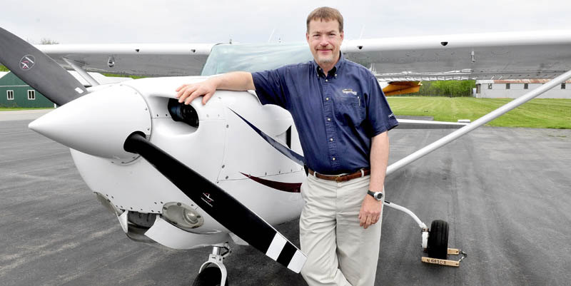 Pilot John Marden of Belgrade beside his plane that he uses as a member of the Angel Flight NE organization that offers free flights for medical patients.