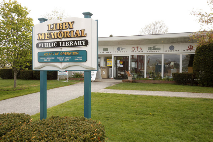 The Libby Memorial Library's website still carries a scroll saying that,