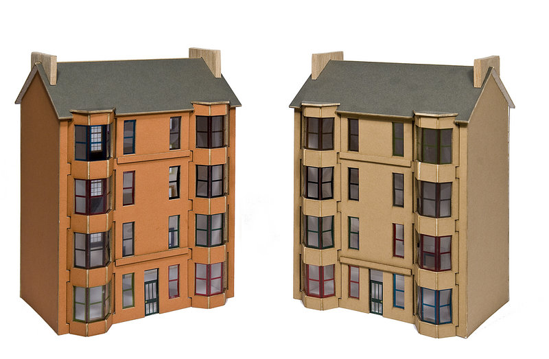 Glasgow Tenement models from Scottish designers Franki Finch and Beth Fouracre.