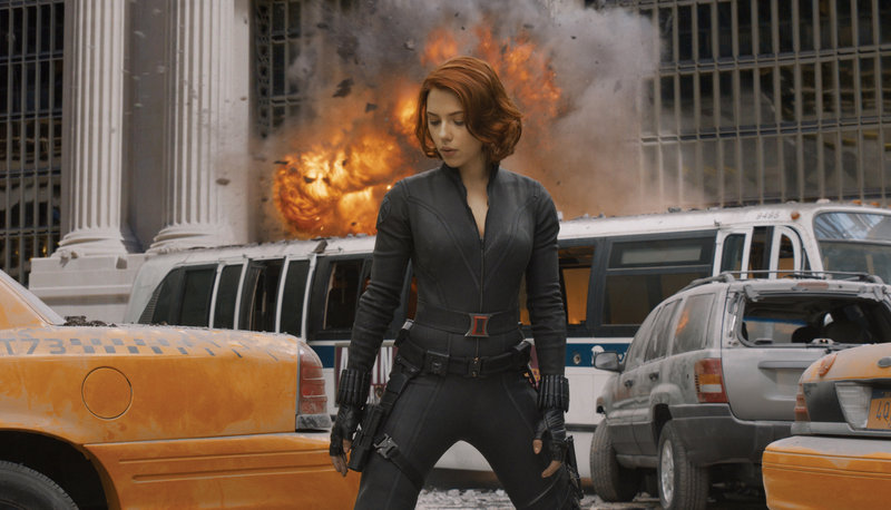 "Scarlett Johansson stars as Black Widow in ""The Avengers."""